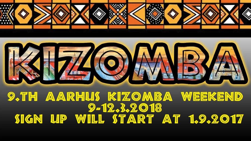 9th Kizomba weekend baggrund med startupdato